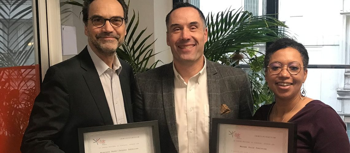 Félicitations à Odile Christine et Henri-Jacques Letellier nouvellement certifiés coachs d'affaires Le Centre National du Coaching ®