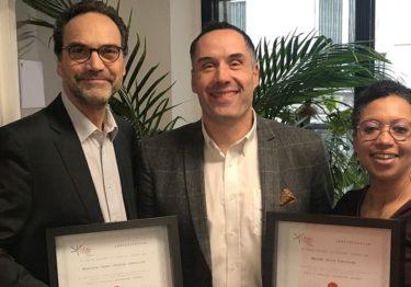 Félicitations à Odile Christine et Henri-Jacques Letellier nouvellement certifiés coachs d'affaires Le Centre National du Coaching ®