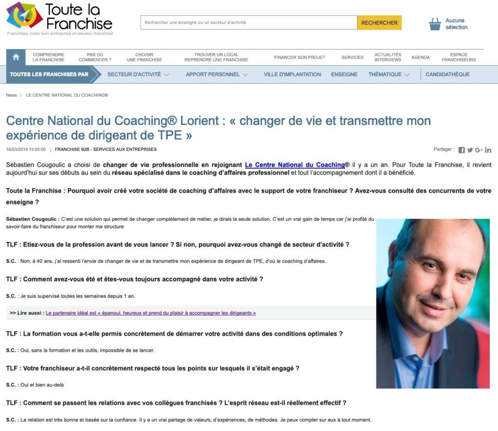 Sébastien Cougoulic Lorient changer de vie
